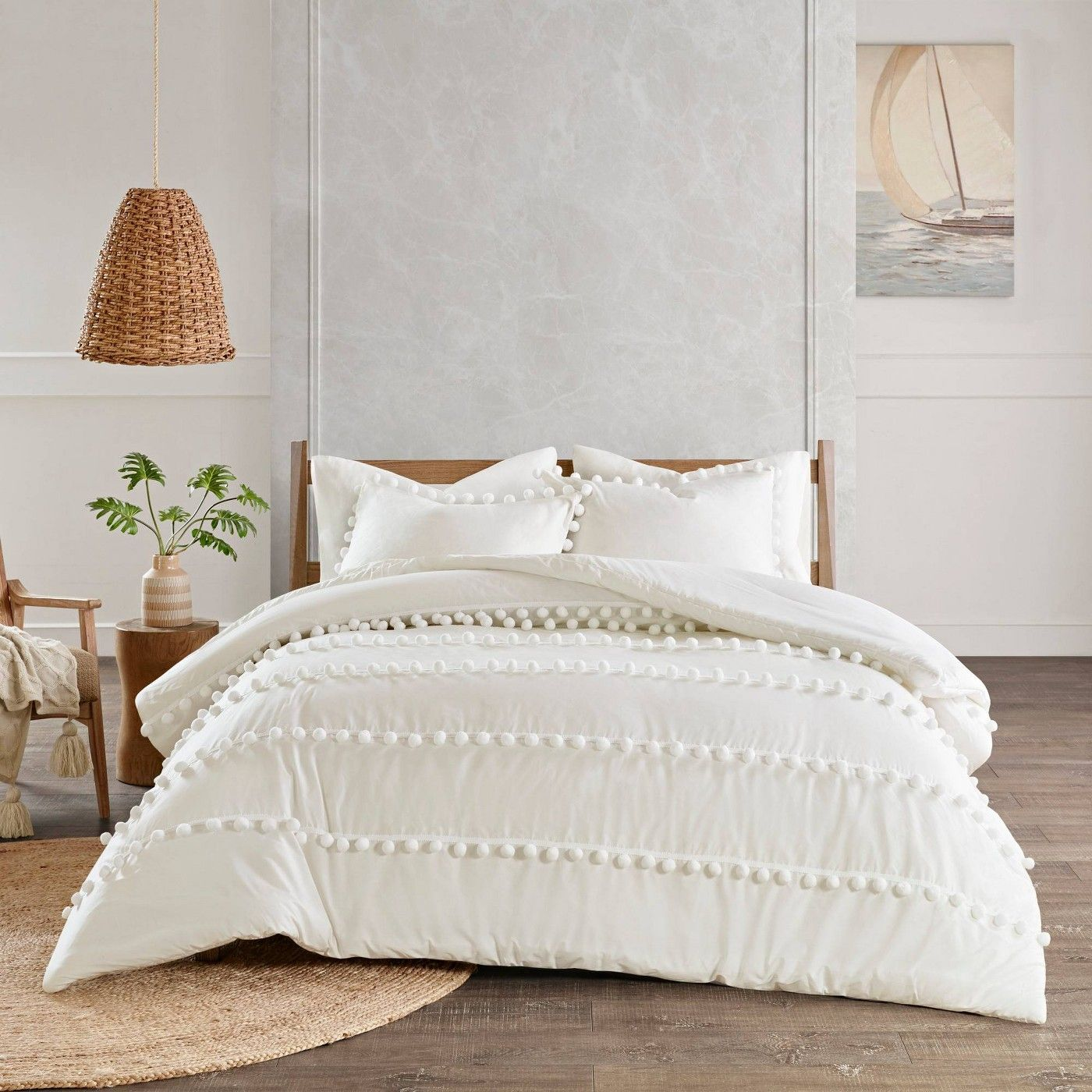 Blue Bedford Cotton Sateen Comforter Set Queen 7pc In 2021 Comforter Sets King Size Comforters Queen Size Comforter Sets