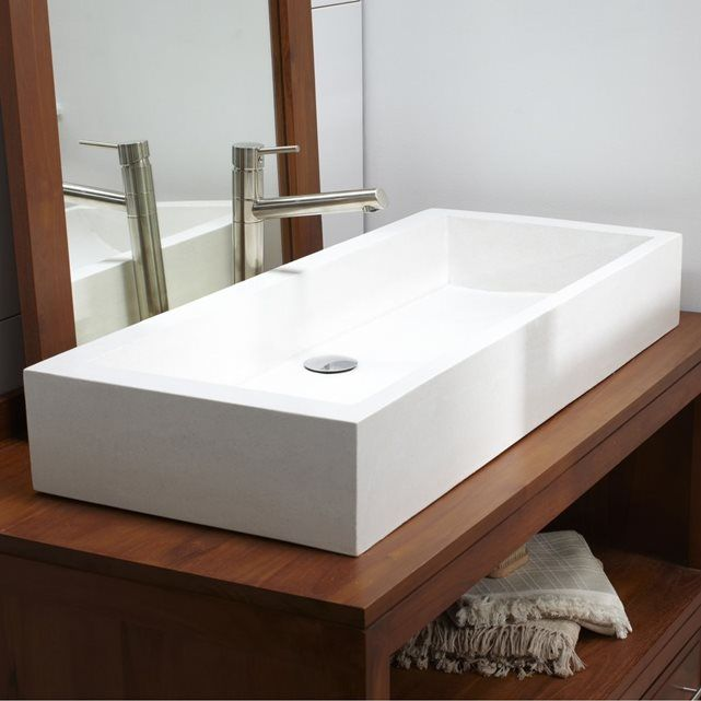 Vasque salle de bain en terrazzo Pegase 100