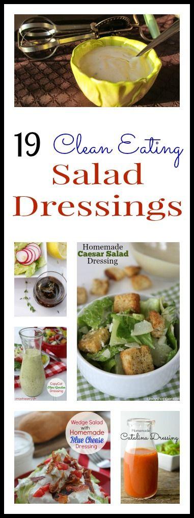 15 Clean Eating Salad Dressings Recipe Salads Pinterest Strawberry Vinaigrette Olive