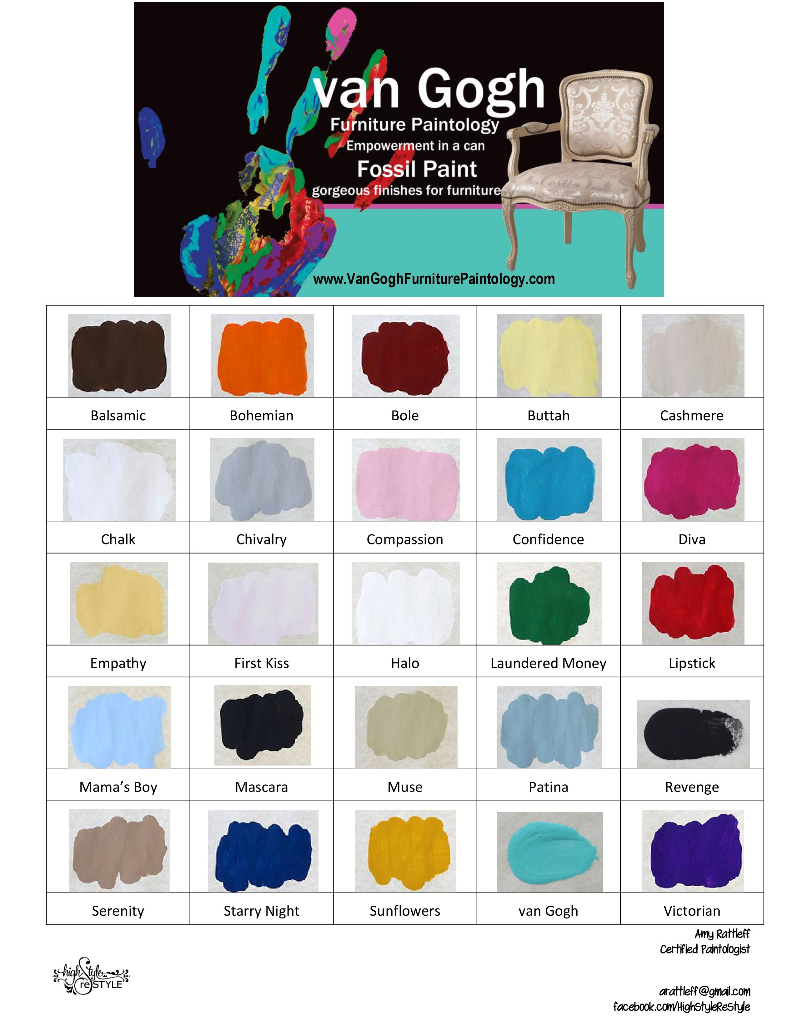 Java color chart choice image free any chart examples van gogh fossil paint color chart chalky painted finishes van gogh fossil paint color chart nvjuhfo nvjuhfo Image collections