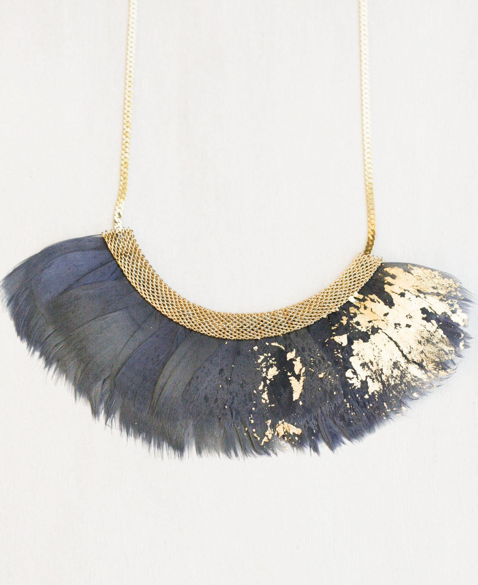 and necklace butler yellow gold feathered pendant jean plated feather irish silver chain