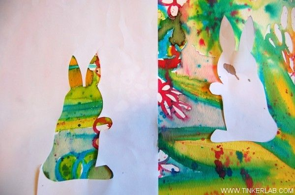 How To Watercolor Bunnies With Kids Watercolor Art Diy