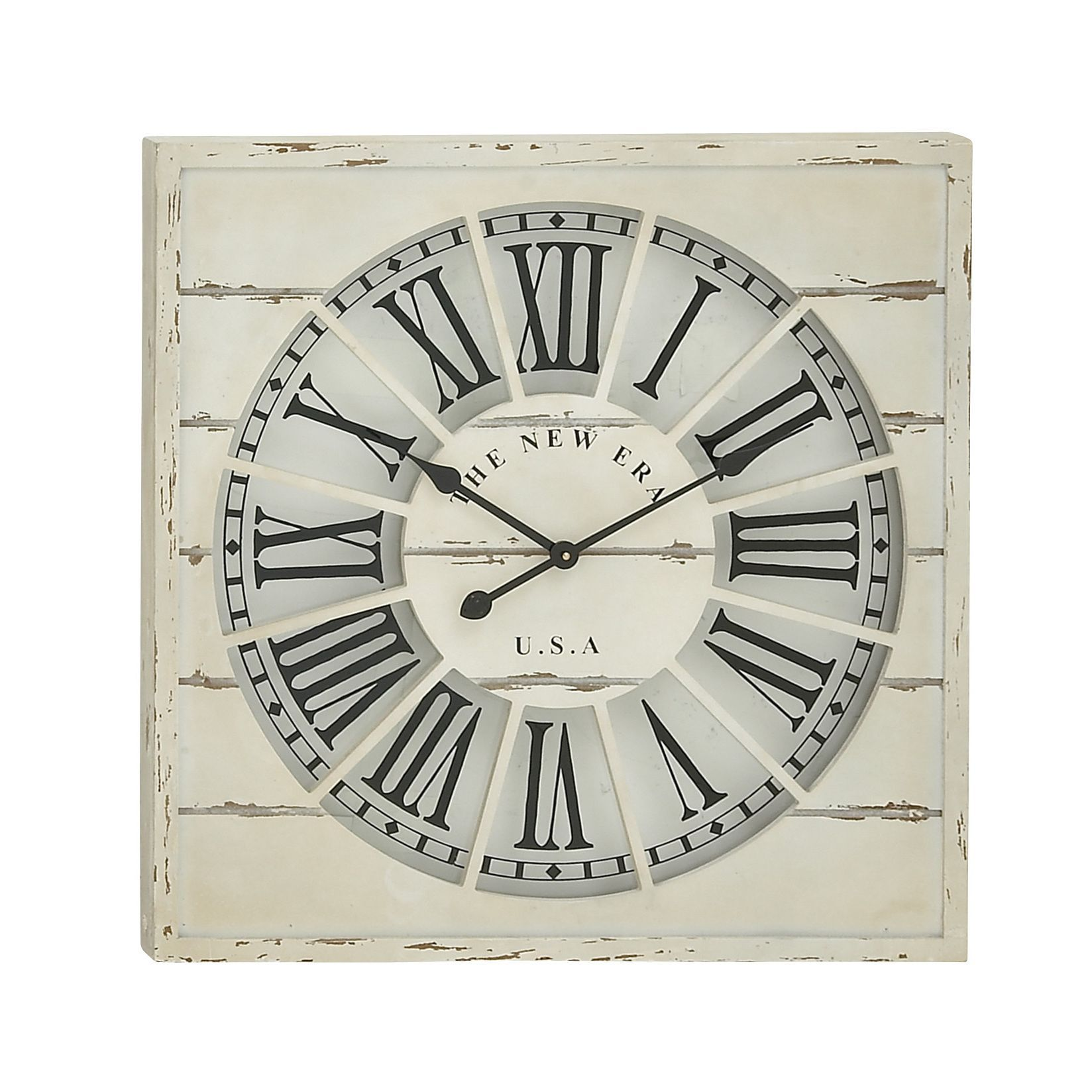 Bring Home This Awesome Wood Wall Clock Which Would Give An Antique Look To  Your Interiors