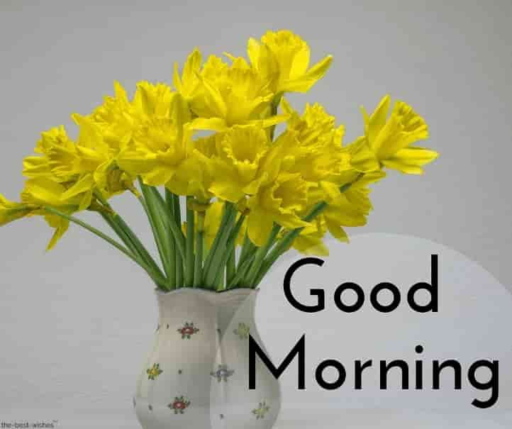 Good Morning With Yellow Flowers Morning Quote Good Morning