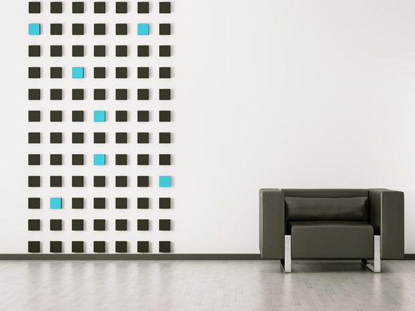Mit farbigen Quadraten akzente Setzen bei der Wandgestaltung - wandgestaltung quadrate beispiele