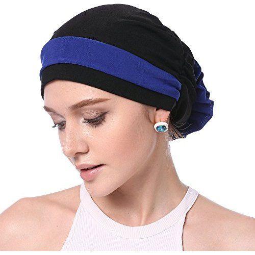 The Bella Scarf Chemo Turban Head Scarves Pre-Tied Bandana for Cancer Raven  Black aba803b6b108