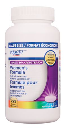Best Womens Multivitamin 2020.Equate Adults 50 Women S Formula Multivitamin And Mineral