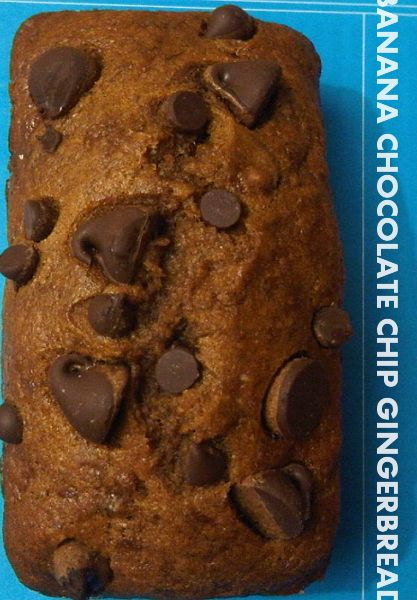 vegan banana chocolate chip gingerbread