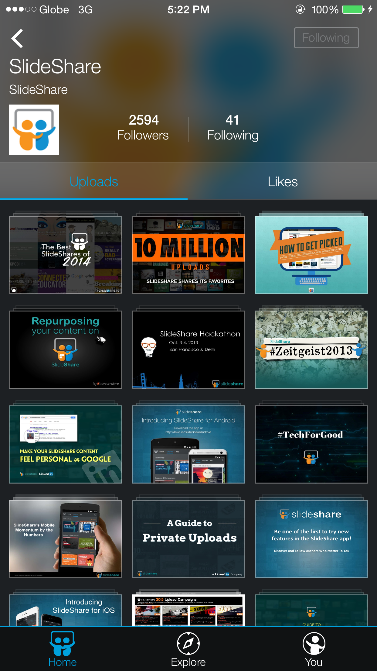 linkedin updates slideshare presentations app for iphone with new
