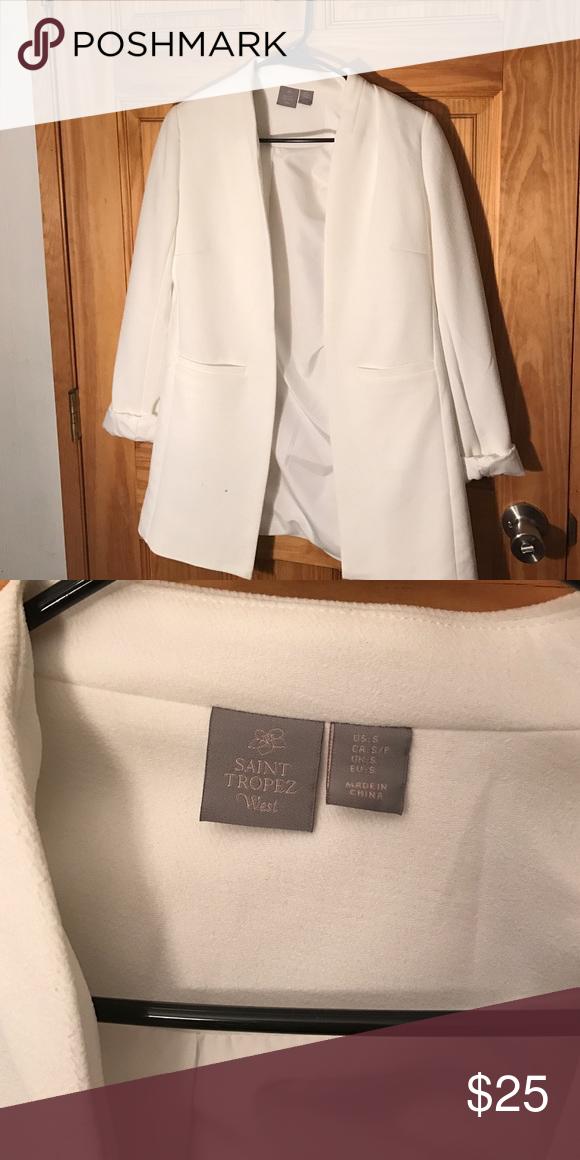 White blazzer Clothes design, Fashion, Blazer