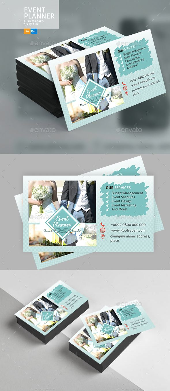 Wedding Event Business Card  Business Cards Print Templates And