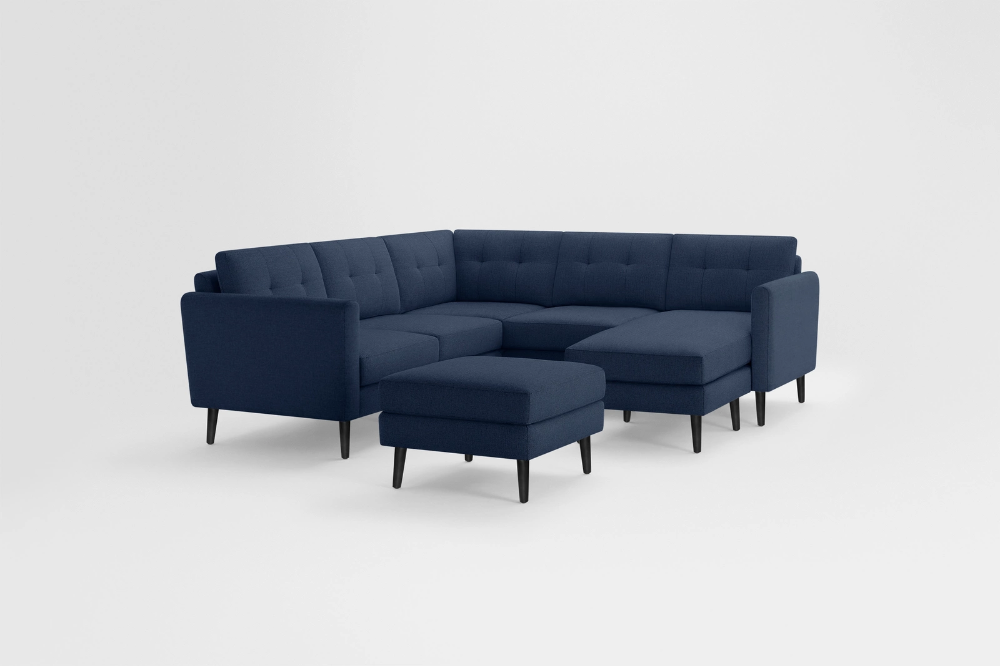 Nomad 5Seat Corner Sectional with Chaise and Ottoman