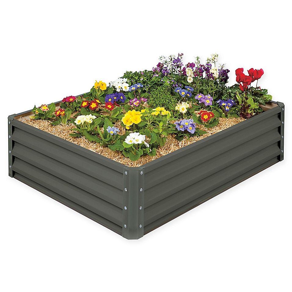 Stratco Raised Garden Bed in Slate Grey Raised garden