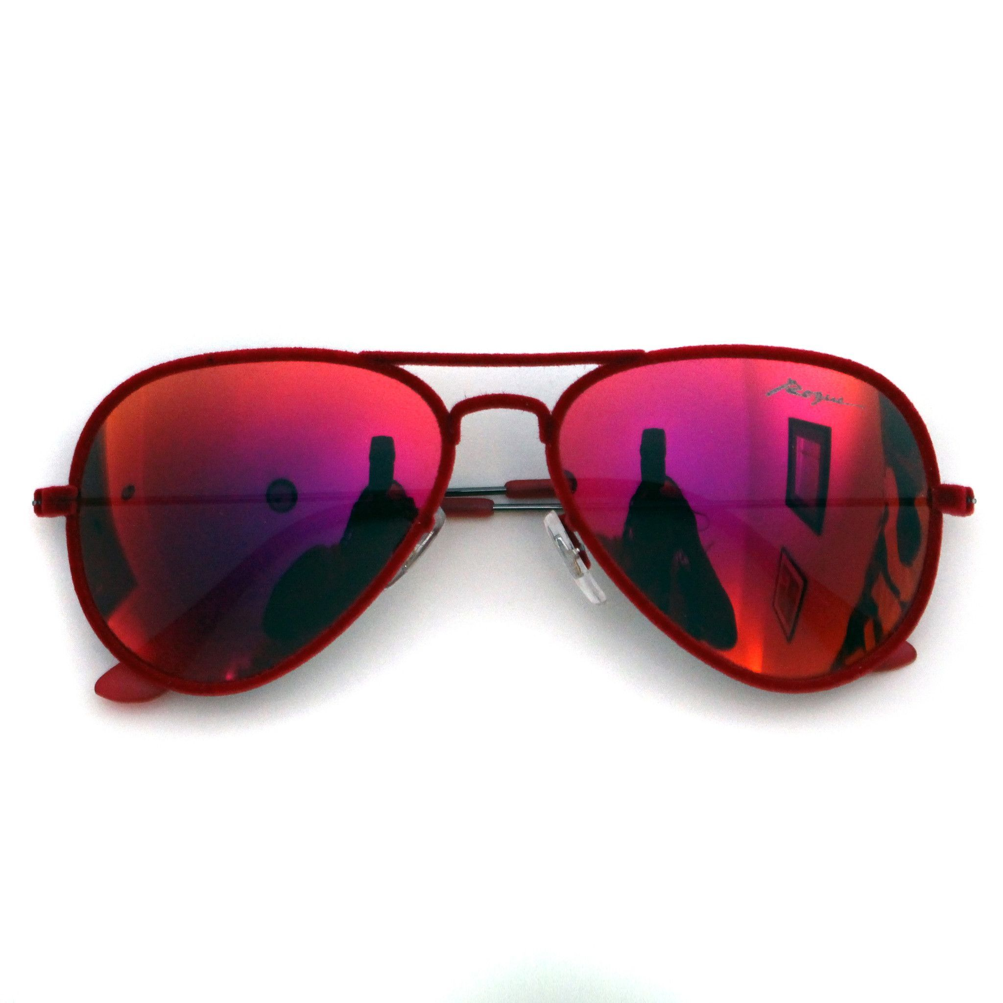 aviator sunglasses red