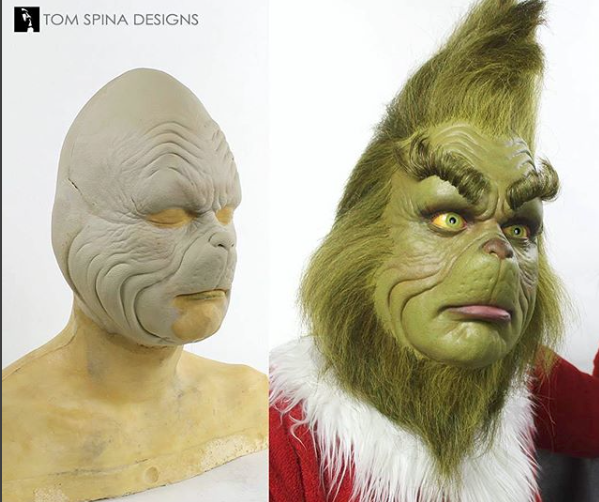 Make up of Jim Carrey as Grinch