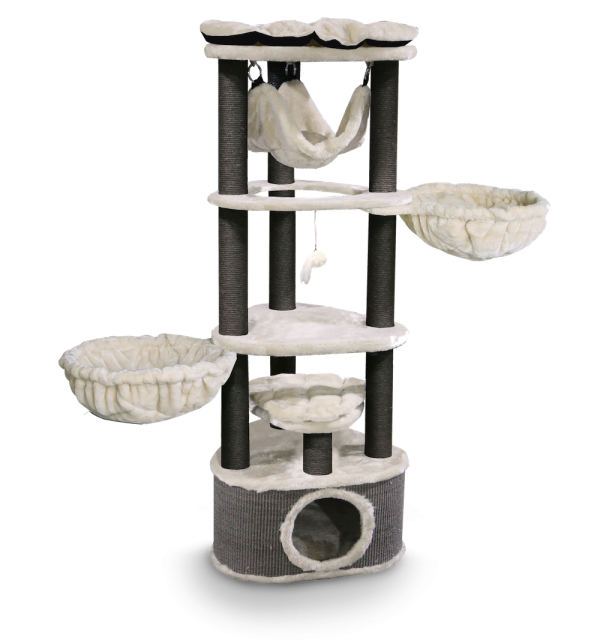 Cat Tree Kings & Queens Catharina 160cm (Royal Creme