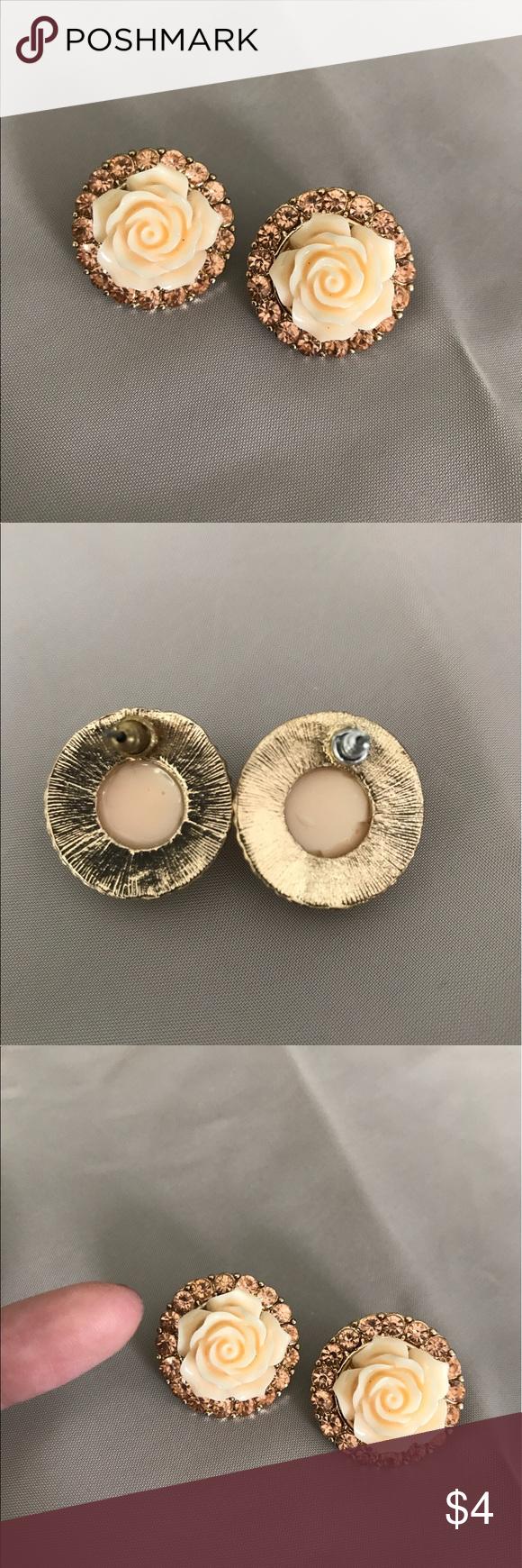 Large Flower Stud Earrings statement earrings Charlotte Russe Jewelry Earrings