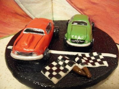 Hot Rod Cake Topper By Gonewild On Cakecentral Com Party