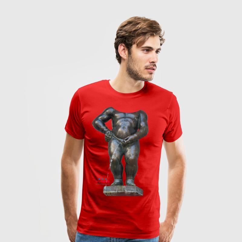 Manneken Pis BiGSHIRT  · 小便小僧 Tャツ · T-shirt Premium Homme · 撒尿小童 T恤