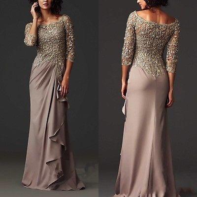 Vestido de noche 2016 Nuevo vestidos madre de la novia formal Largo