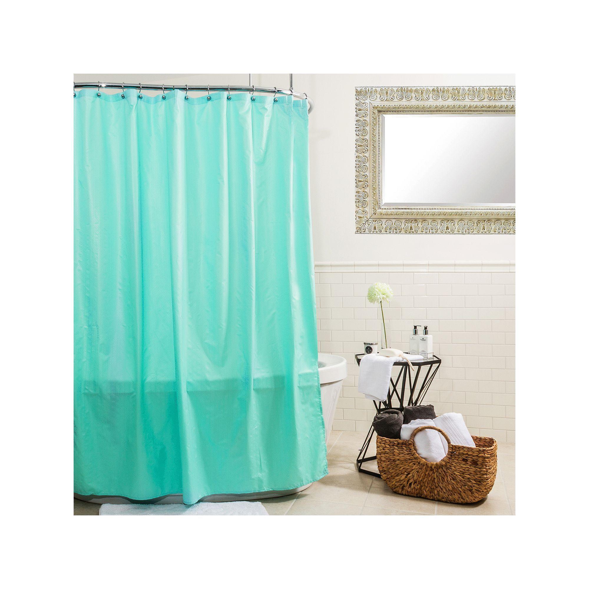 Splash Home Microfiber Shower Curtain Liner Shower Curtains Home