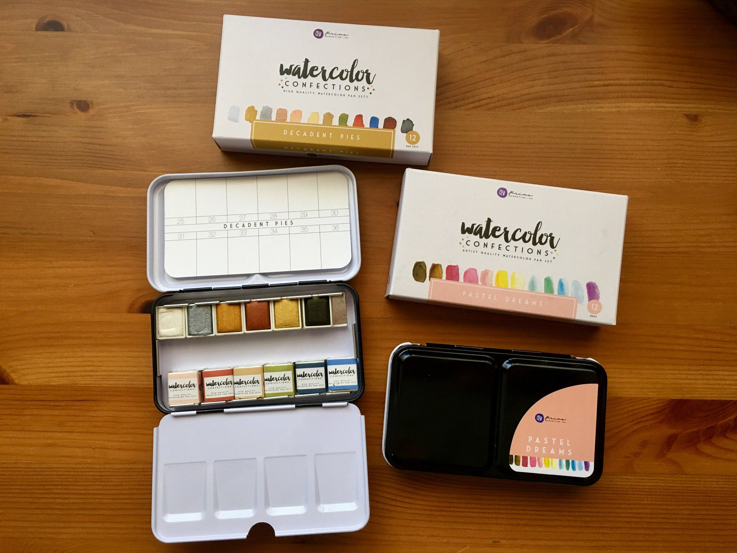 Doodlewash Review Prima Watercolor Confections Sets Prima