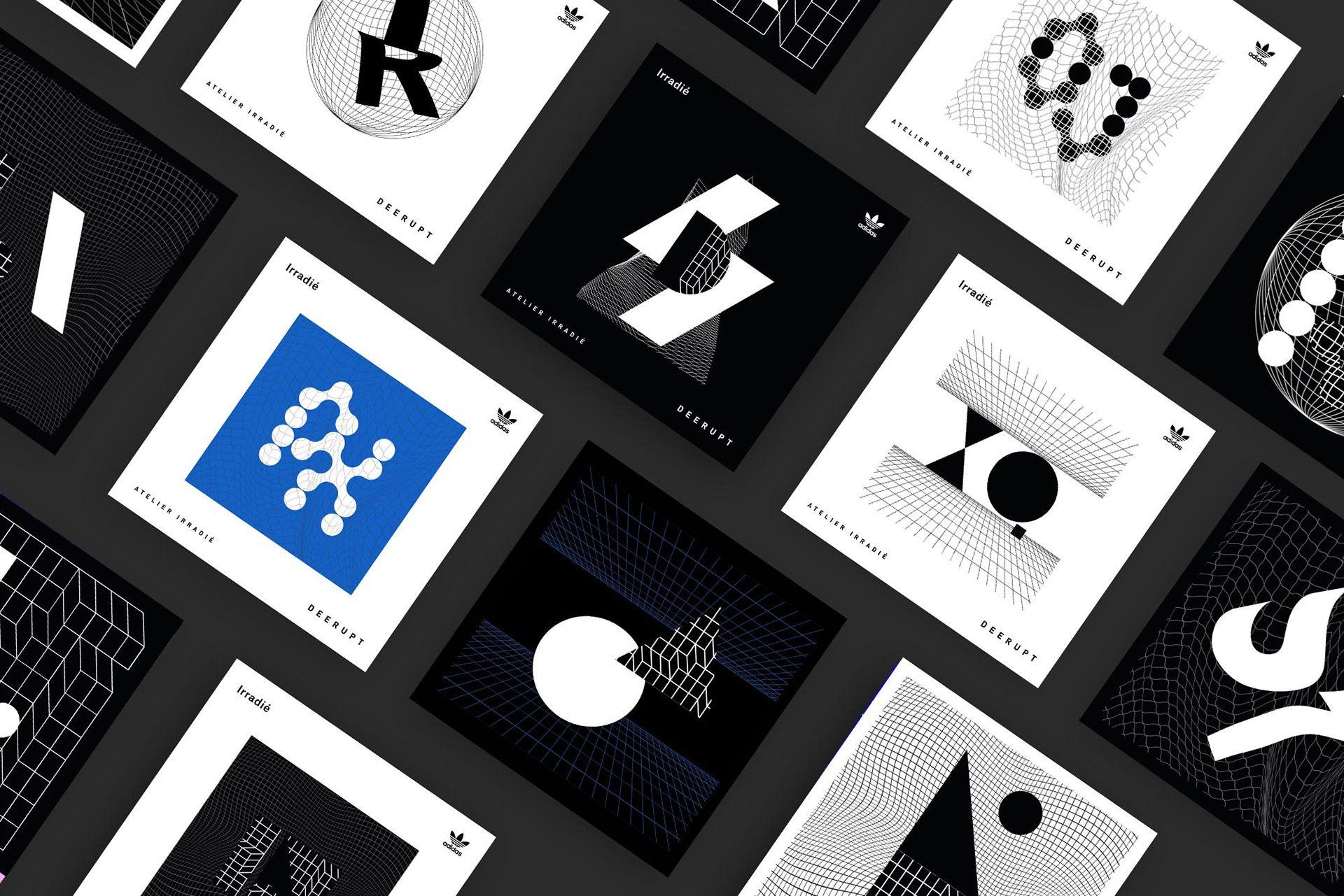 Deerupt adidas on behance graphic design typography