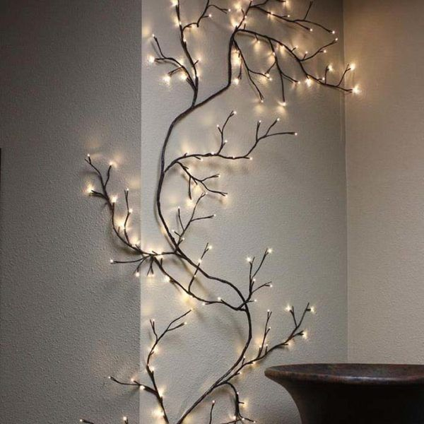 Lighted Twigs Home Decorating: Willow Branch Vine In 2019