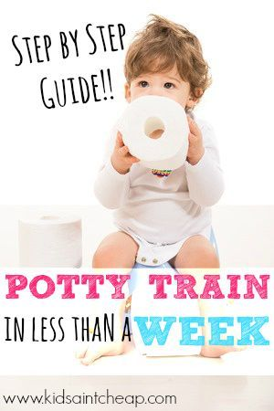Tips for potty training your child in 3 days or less