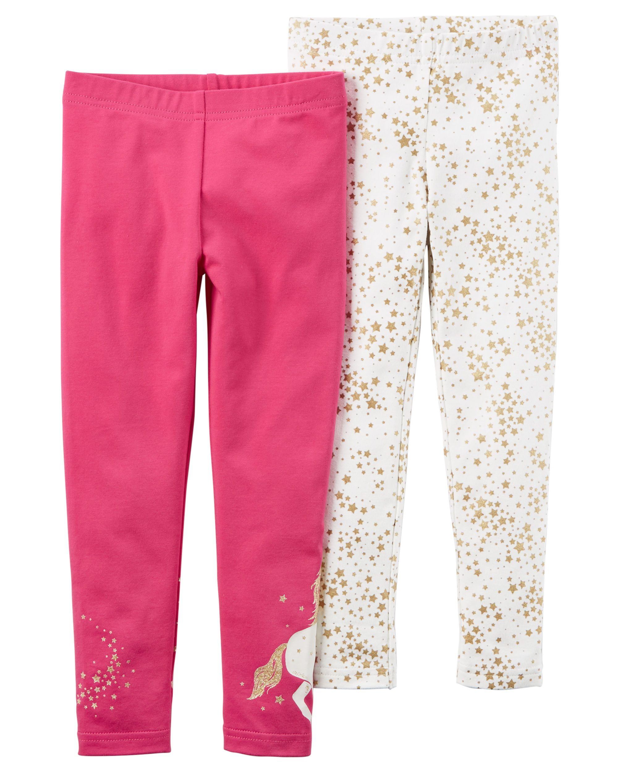 29555521b Toddler Girl 2-Pack Leggings from Carters.com. Shop clothing & accessories  from a trusted name in kids, toddlers, and baby clothes.