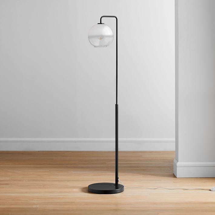 Sculptural Glass Globe Floor Lamp Metallic Ombre Floor Lamp Globe Floor Lamp Glass Floor Lamp