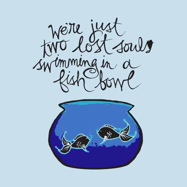 we re just two lost souls swimming in a fishbowl