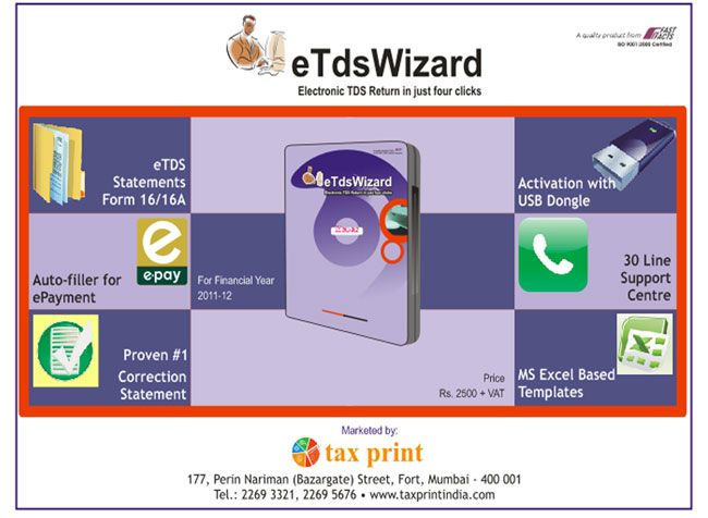 eTDS Software by Tax Print provides the etds return filing software