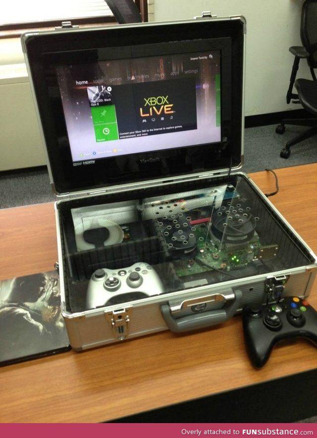 Xbox 360 On The Go Funsubstance Com Custom Xbox Custom Consoles Retro Video Games