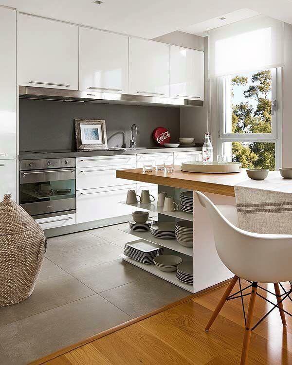 Diseño muebles - Isla islas barra para cocina Pinterest - cocinas grandes de lujo