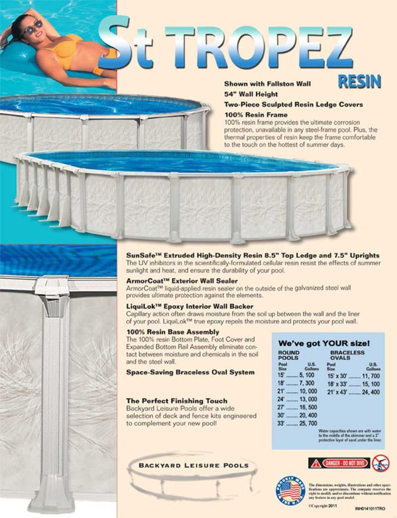 18 X 33 Oval 54 Deep Above Ground Pool Kit