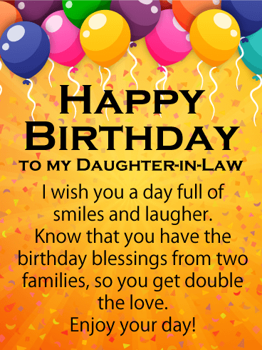 Personalised Daughter In Law Birthday Cards : personalised, daughter, birthday, cards, Smile, Happy, Birthday, Daughter-in-Law, Greeting, Cards, Davia, Beautiful, Daughter,, Greetings, Wishes, Daughter