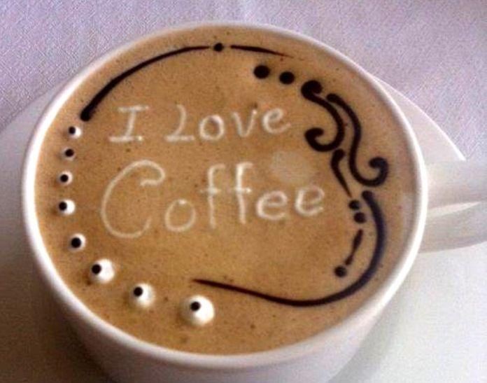 Coffee Art I Love Coffee Latte Art Coffee Latte Art Coffee Art Latte