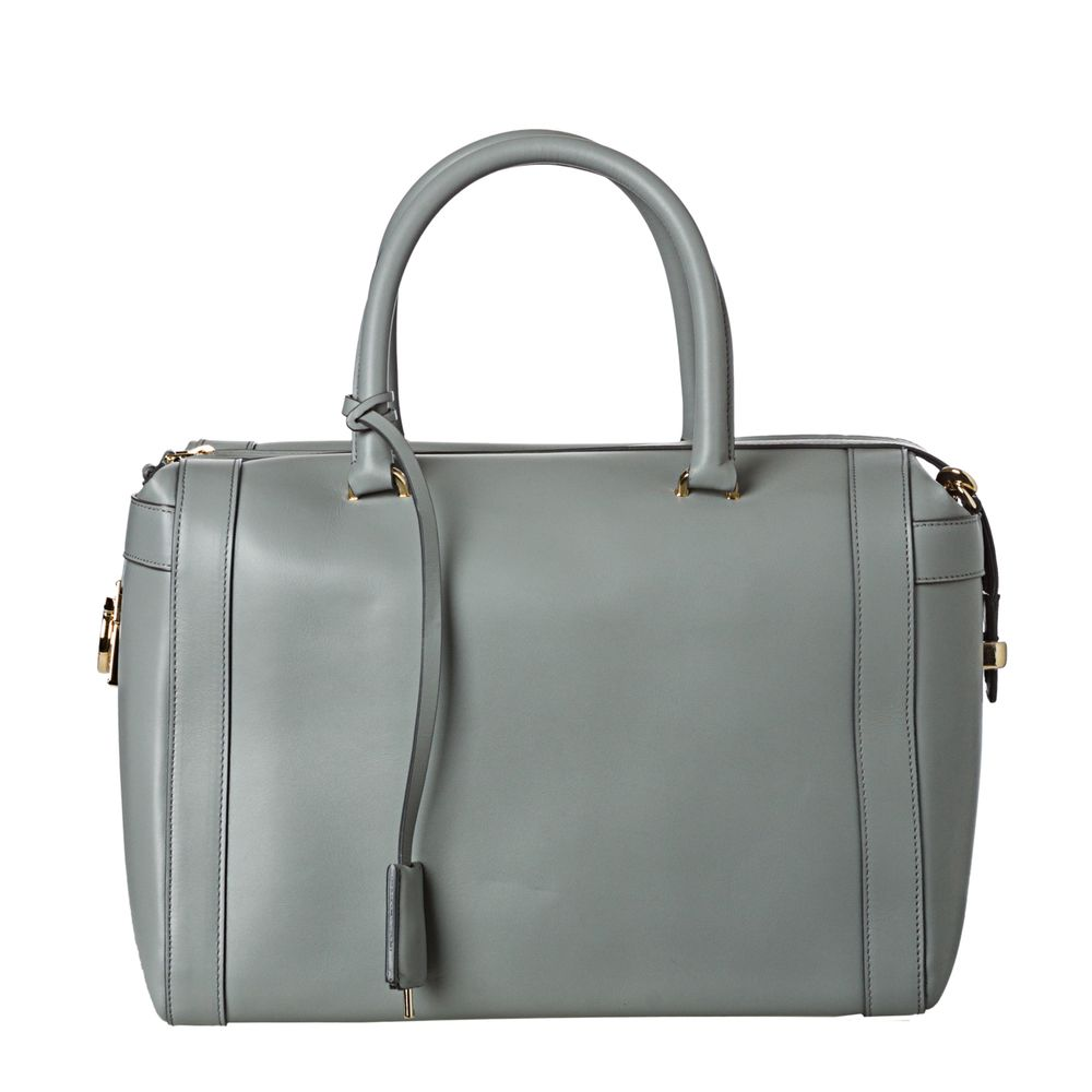 7cf75101cf0f Salvatore Ferragamo Women s  Marilyn  Grey Leather Satchel Handbag ...