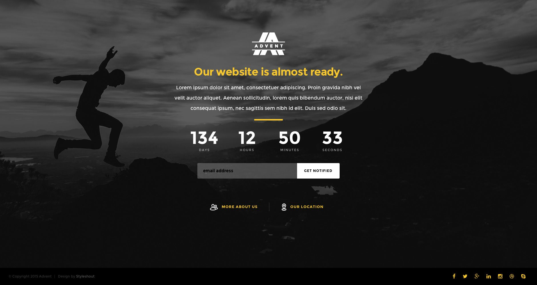 Advent is a clean, well-crafted free HTML5 coming soon website ...