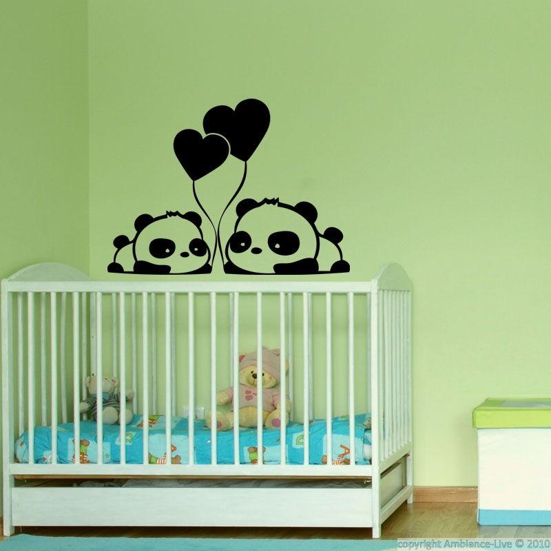 Décorez votre maison avec stickers muraux pandas amoureux de ambiance sticker ces stickers décoratifs sont parfaits pour décorer votre chambre ou celle de