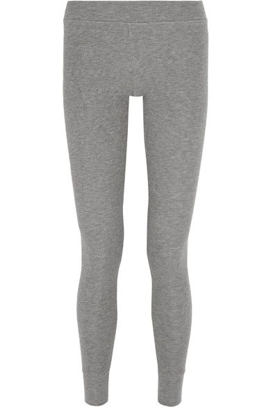 Looking For Sale Wiki Ribbed Stretch-micro Modal Leggings - Gray ATM Anthony Thomas Melillo SULY6t2S
