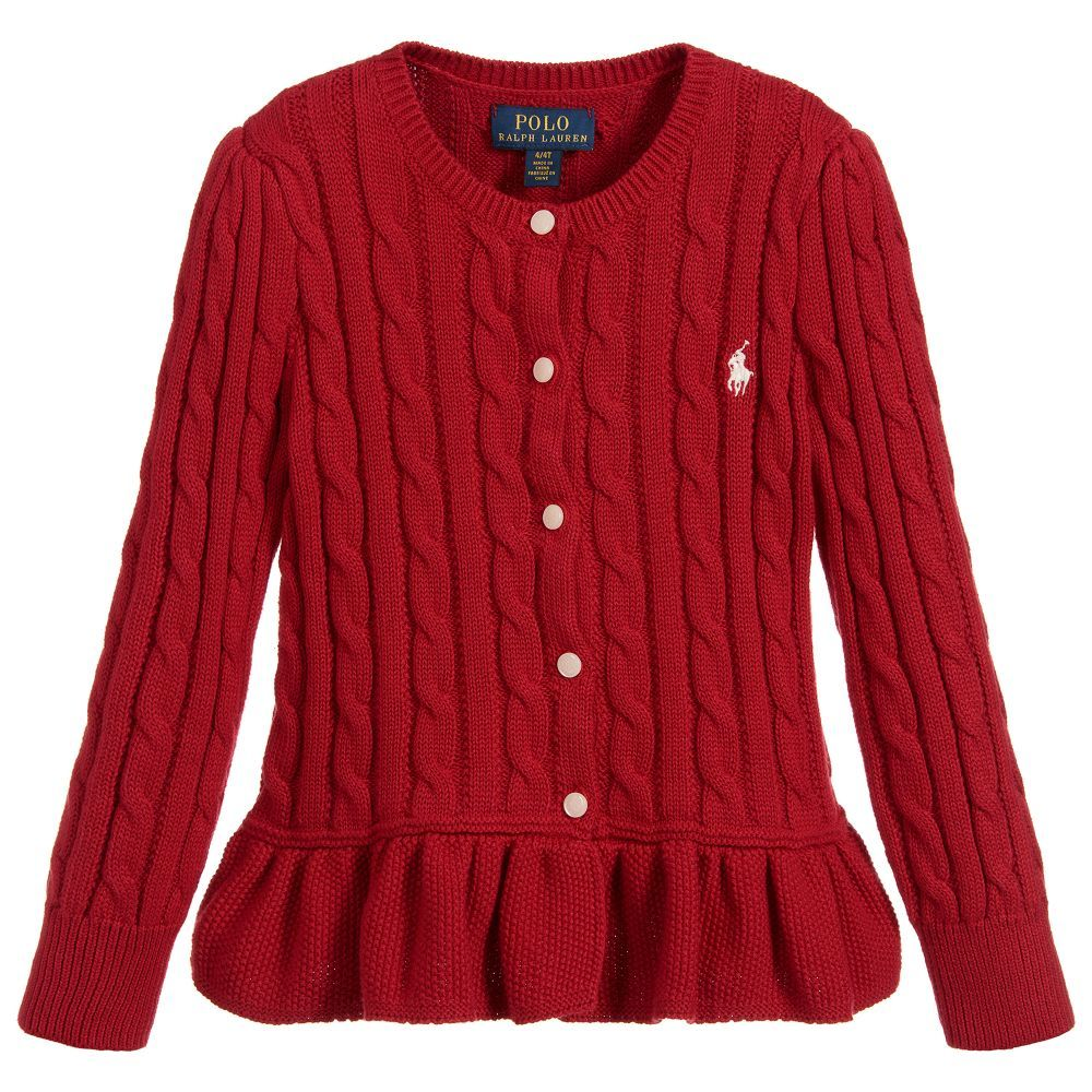 2b6df5294577 Cotton Cable Knit Cardigan for Girl by Polo Ralph Lauren. Discover ...