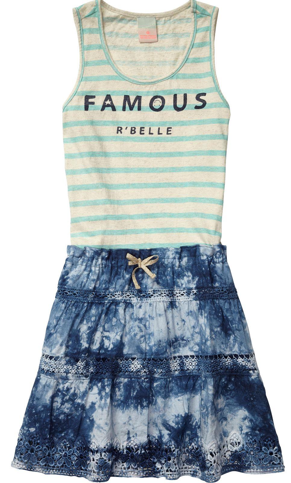 Kleider Sale Sommermode für Mädchen bei www.modepur.com von Scotch R'Belle -traumhafte Sommer Röcke ,Loops, Taschen und vieles mehr