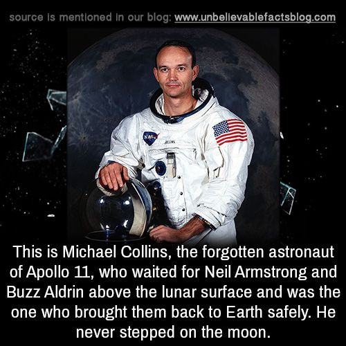 This is Michael Collins, the forgotten astronaut of Apollo ...