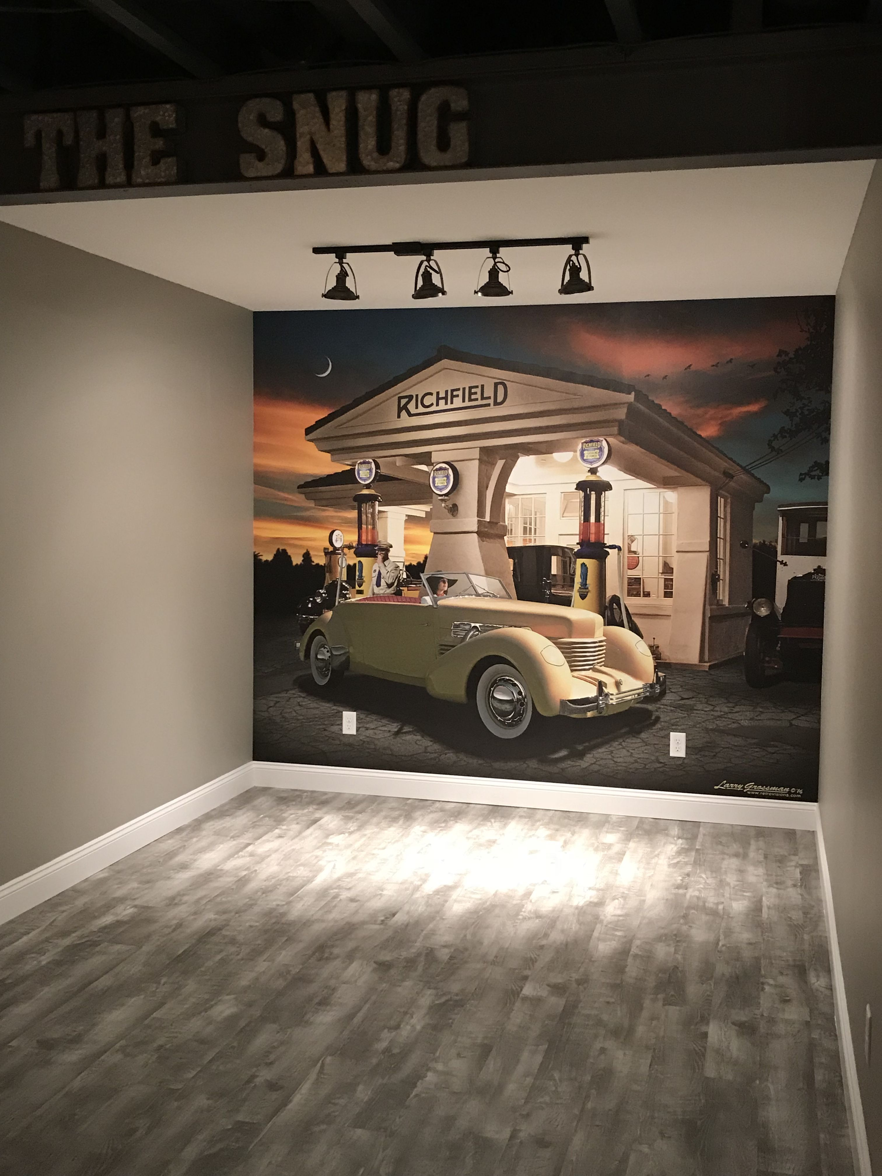 Man Cave Wall Decor Classic Cars Man Cave Wall Mural Man