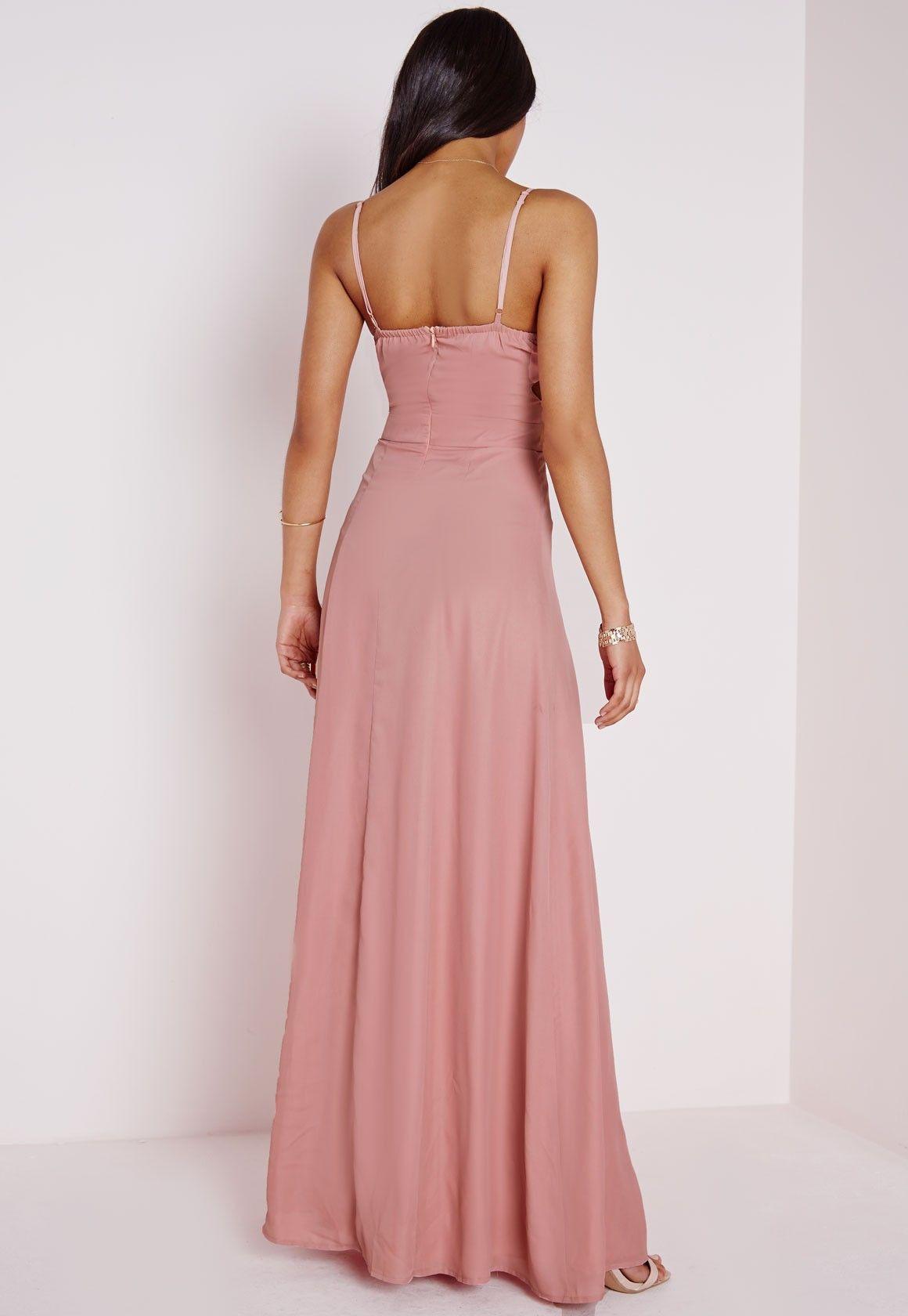 Crepe Bralet Maxi Dress Dusky Pink   Pinterest