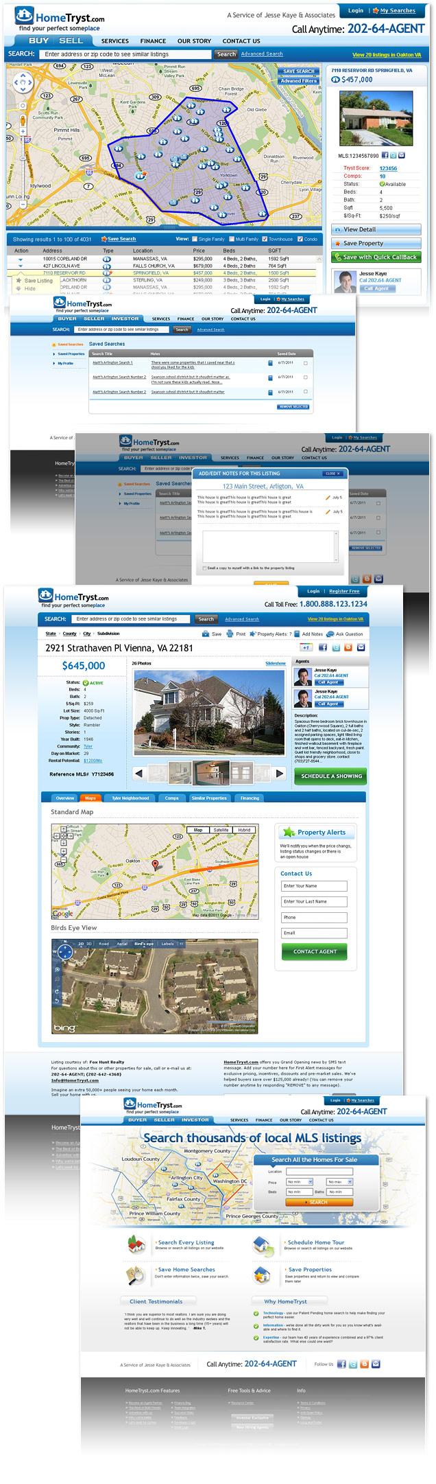 Washington Dc Virginia Real Estate Website Design Interface Design Interface Design Real Estate Website Design User Interface Design