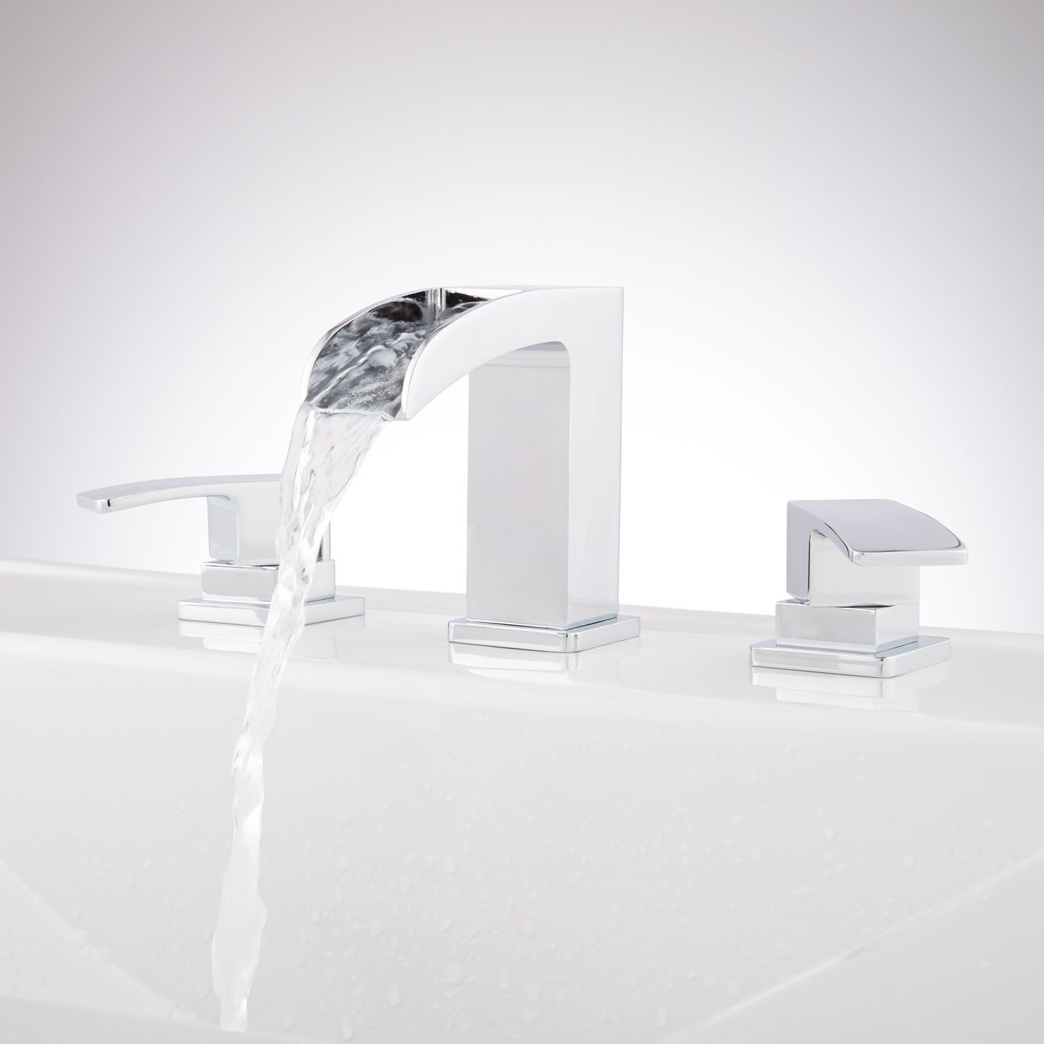 Stevens Widespread Waterfall Faucet | Waterfall faucet, Faucet and ...