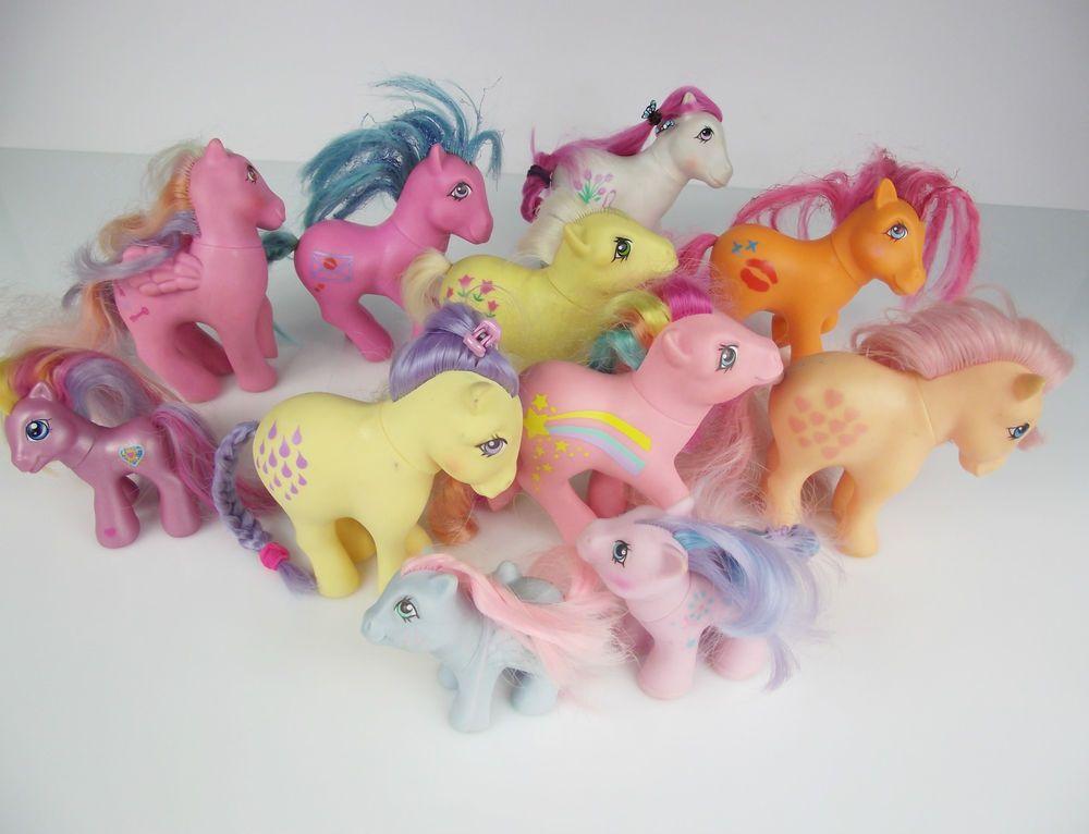 Vintage Rare 11 My Little Pony G1 Hasbro Bundle Baby Pegasus Pony Lot 80s Hasbro My Little Pony My Little Pony Pony
